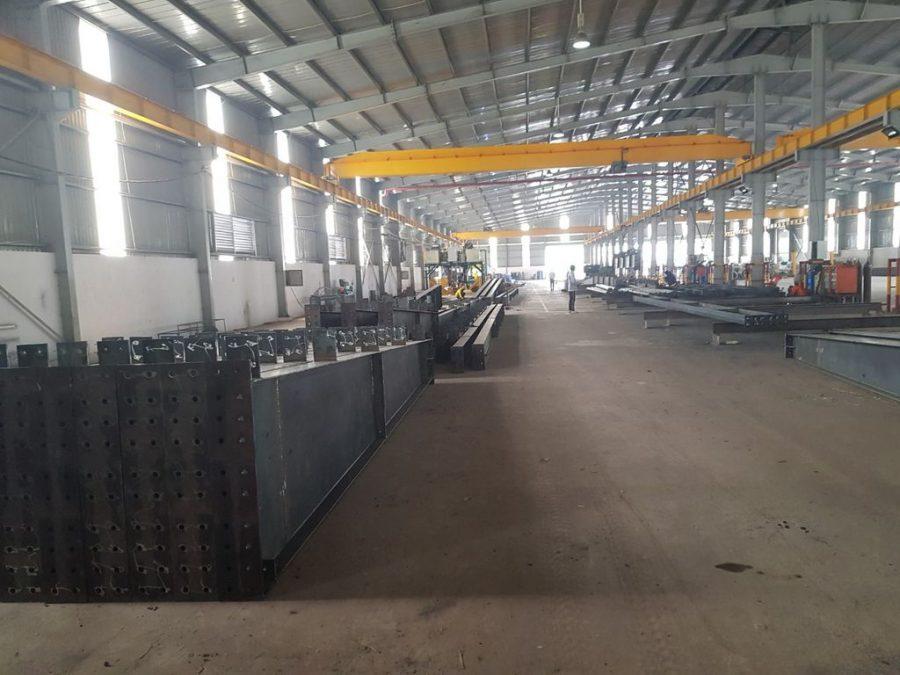 Quy trình sản xuất gia công khung nhà thép thi công kho xưởng